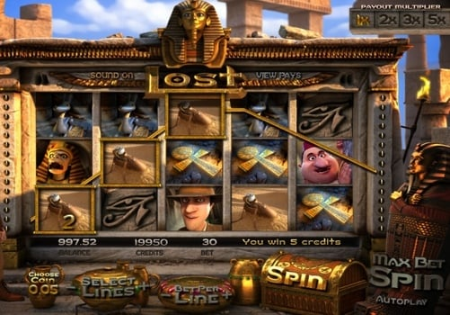 Призовая комбинация в игровом автомате Lost