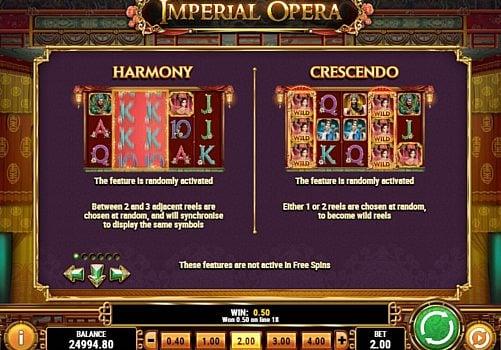 Игровые бонусы в онлайн аппарате Imperial Opera