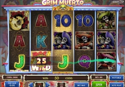 Игровые автоматы на реальные деньги с выводом - Grim Muerto