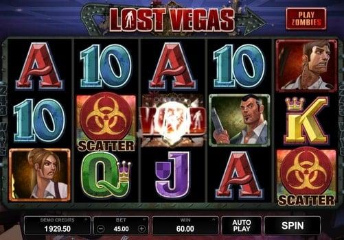 Символы разброса в слоте Lost Vegas